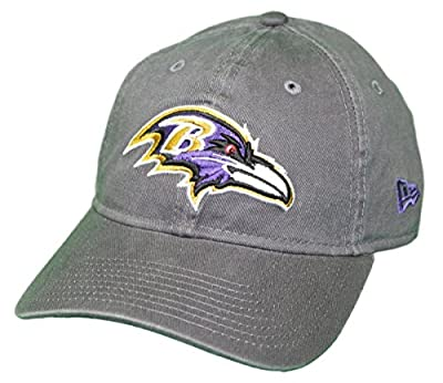 New Era Baltimore Ravens NFL 9Twenty Core Classic Graphite Adjustable Hat by New Era
