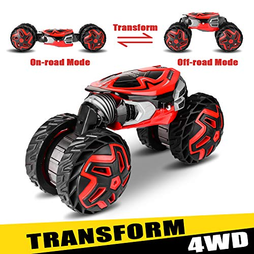 RC Truck, High Speed Transform Remote Control Car 2.4Ghz Off-Road Electric Motors Vehicles 4WD Rock Crawler Toy Best Gift for Kids and Adults