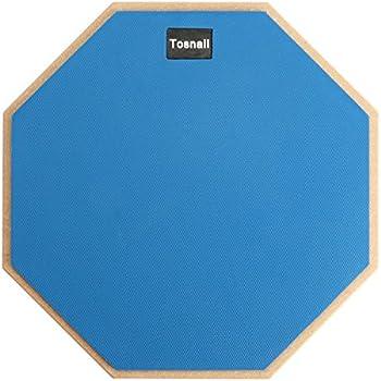 Tosnail 12-inch Silent Drum Practice Pad - Blue - Bonus 5A Drumsticks