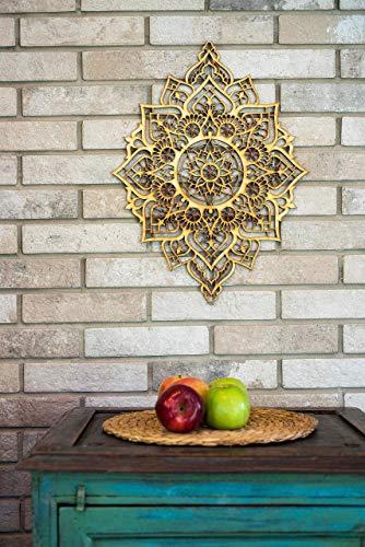 Mandala Wood Home Decor, Boho Ethnic Housewarming Wall Hanging, Morrocan Indian Wall Art, Sacred Geometry Yoga Studio, Unique Handmade Spiritual Gift by Tohar Wood Design (Image #3)
