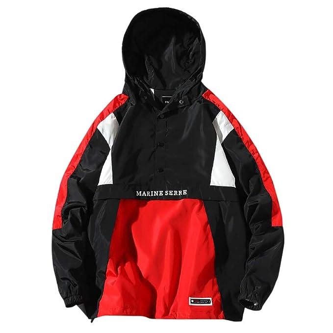 Mens Pullover Hooded Waterproof Lightweight Windbreaker