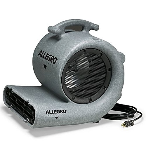 Allegro Industries 9519-03E Carpet Dryer Blower, 220V/50 Hz, 3 Speed