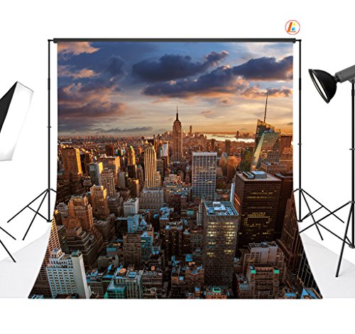 LB 10X10ft Evening New York City Vinyl Photography Backdrop Customized Photo Background Studio Prop MG51 by LB