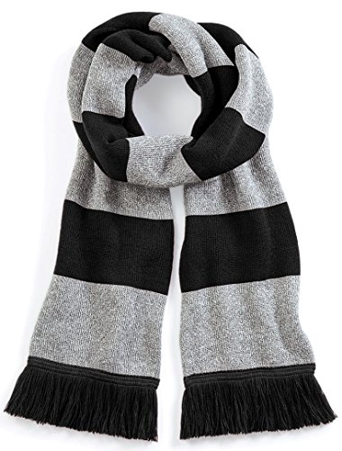 Beechfield Varsity Scarf Black/Heather ONE -