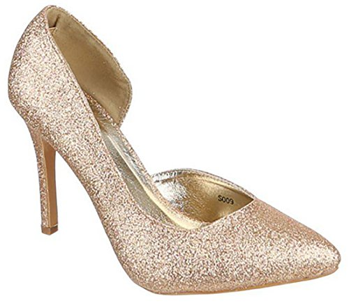 Scarpe Alte Lurex Alto Eleganti Oro Mywy Tacco Donna fnCwqxTHR 748fe4b9fa7