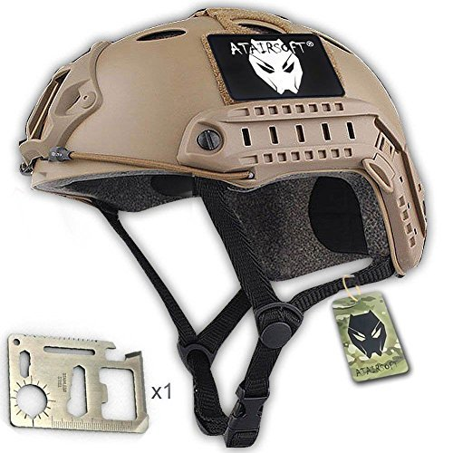 ATAIRSOFT PJ Type Tactical Paintball Airsoft Fast Helmet DE Tan