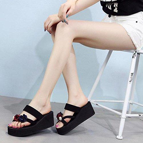 Taschen Hochhackige 3 CN40 Outdoor UK6 Sandalen EU39 Sohlen 2 LL Damen dicken Größe Pisten Flops 5 Sommer Sandalen Farbe Flip Damenschuhe Sandalen Sandstrandschuhe mit Hausschuhe Schuhe Schuhe F4vqwP5