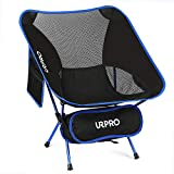 URPRO Outdoor Ultralight Portable Folding Chairs with Carry Bag Heavy Duty 320lbs Capacity Collapsible Chair Camping Folding Chairs Beach Chairs Blue
