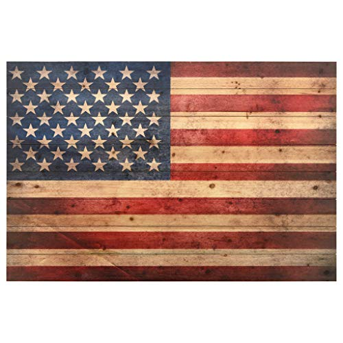 Empire Art Direct American Flag Digital Print on Solid Wood Wall Art, 30