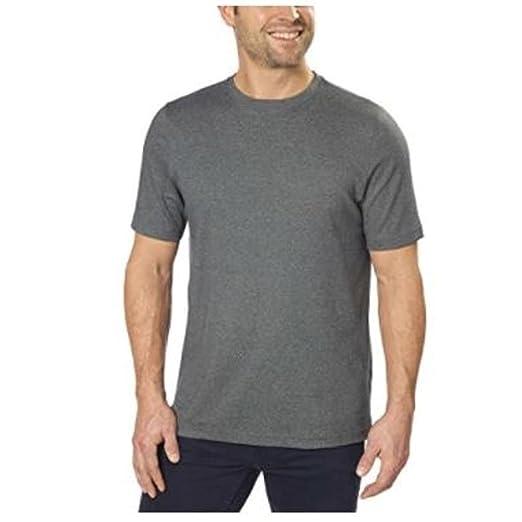 7734f4a2c1a4 Mens 100% Peruvian Pima Cotton Crew Neck T-Shirt (Medium, Charcoal ...