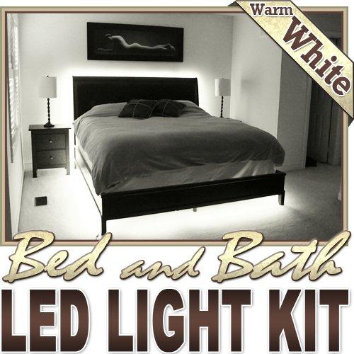 Biltek 6 Ft Warm White Bathroom Mirror Toilet Led Backlight Night Light Dimmable Remote Control Kit Headboard Closet Make Up Counter Mirror Light Lamp