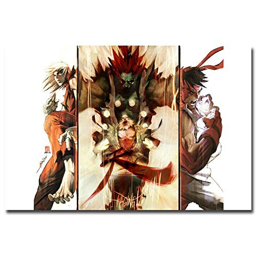 Lawrence Painting Street Fighter V Art Canvas Poster Print Chun Li Ken Ryu Game Pictures For Living Room Decor Sf 47
