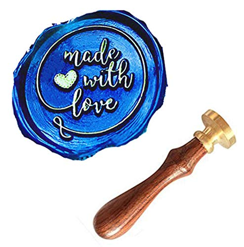 - MNYR Made With Love Heart Monogram Wax Seal Sealing Stamp Kit Rosewood Handle Ideal for Mother's Fathers Day Valentine Decorating Gift Packing Envelope Parcel Card Letter Wedding Invitation Seal Stamp