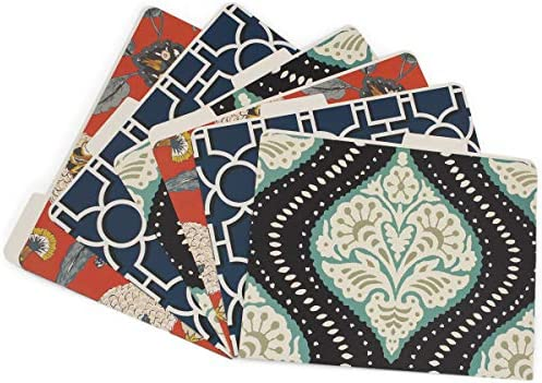 6pk Printed Decorative File Folders By Dwell Studio Stylish Organization