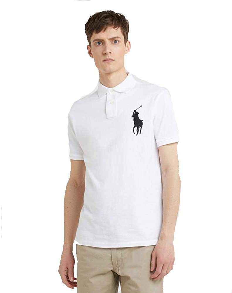 Ralph Lauren Polo para Hombre Big Pony Custom Fit (S, White ...