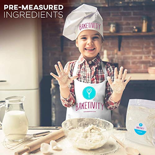 BAKETIVITY Kids Baking DIY Activity Kit - Bake Delicious Cake Pops with Pre-Measured Ingredients - Best Gift Idea for Boys and Girls Ages 6-12