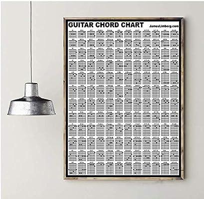 Acorde de guitarra Gráfico de seda poster Impresión del arte ...