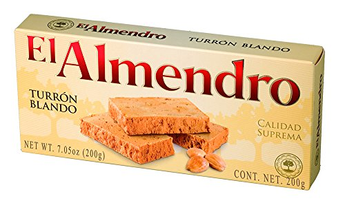 El Almendro Soft Almond Turron 7oz (200 G) by El Almendro