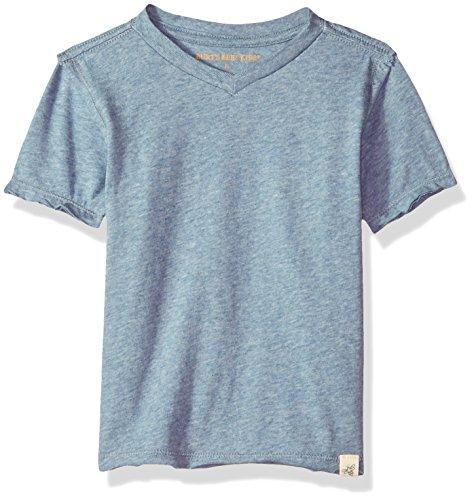 Burt's Bees Baby Little Kids Organic Short Sleeve Reverse Seam High V Tee Shirt, Twilight Heather, 2T