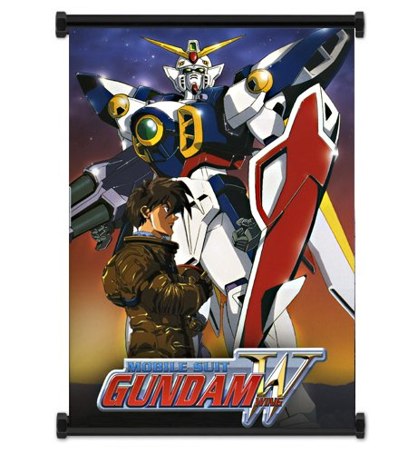 Mobile Suit Gundam Wing Anime Wing Zero Fabric Wall Scroll Poster (16
