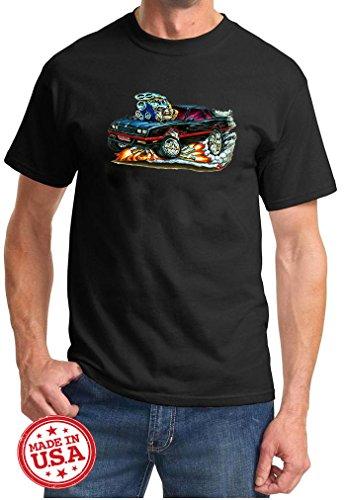 1983-88 Monte Carlo SS Cartoon Muscle Car Design Tshirt Medium Black