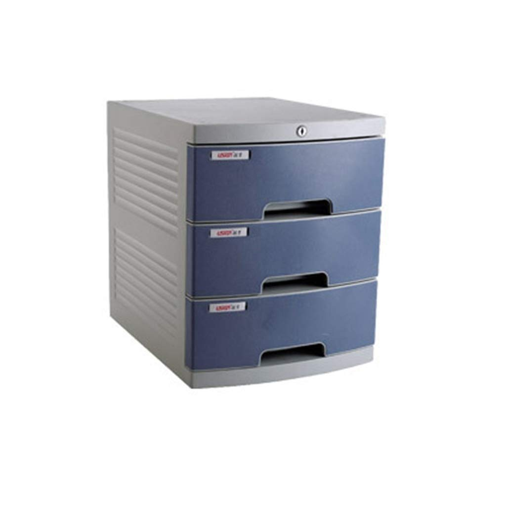 LBWT Finishing Cabinet - Three-Layer with Lock Desktop File Cabinet Storage Box Office/Home/Bank/Mall (Color : 2) by LBWT