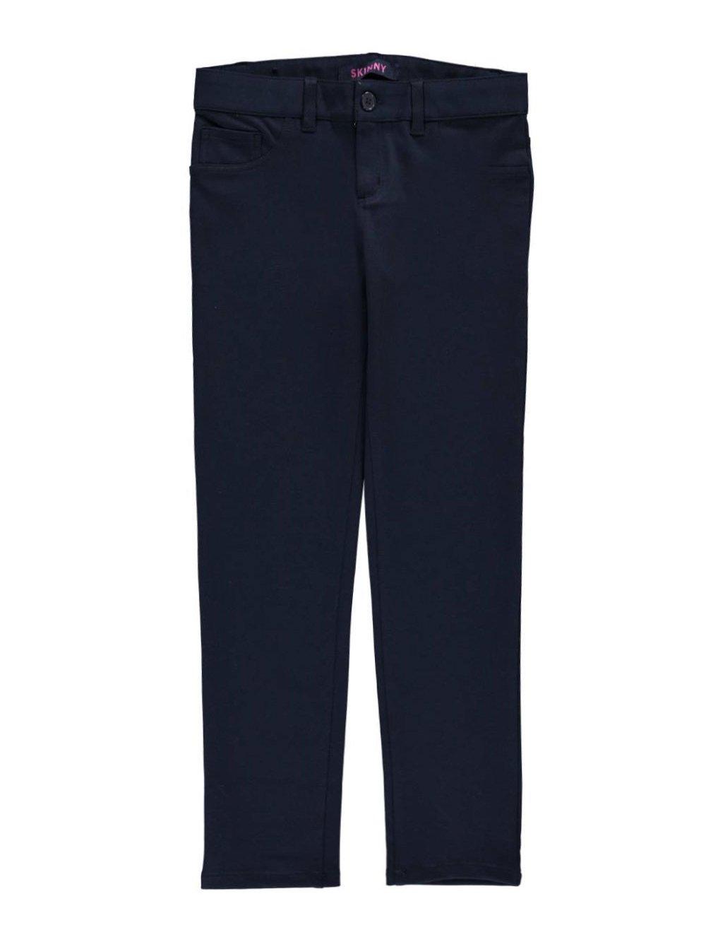 French Toast Girls Plus Size' Stretch Skinny 5 Pocket Knit Pant, Navy, 20.5