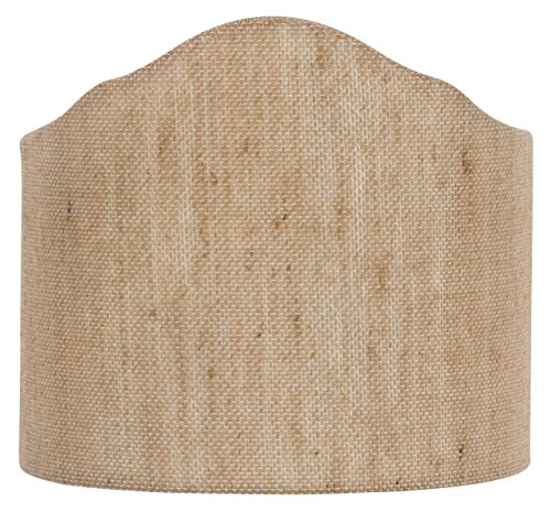 beige linen wall sconce shield
