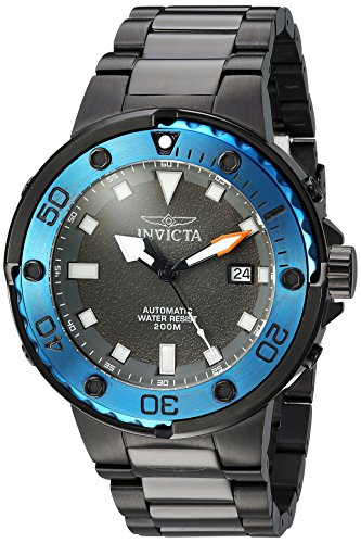 Invicta Men's 'Pro Diver' Automatic Stainless Steel Diving Watch, Color:Black (Model: 24466) ()