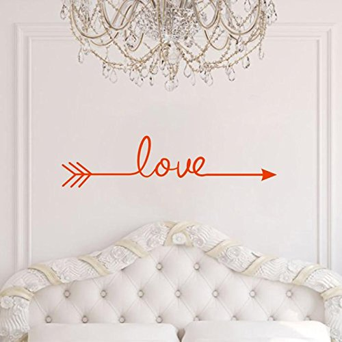 Iusun New Popular Love Arrow Wall Decal Sticker Home Decor Removable (red)