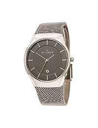 Skagen SKW6140 Men's Matthies Dark Grey Dial Titanium Mesh Bracelet Watch