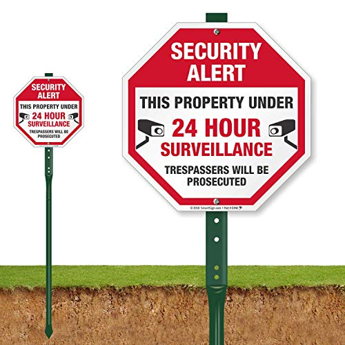 Best alarm signs for yard with stake