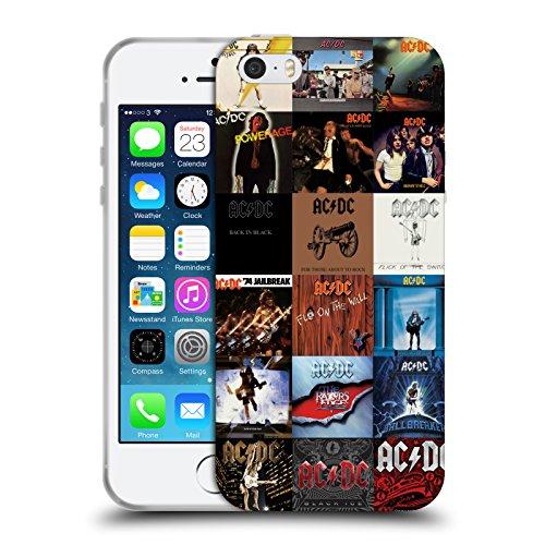 Officiel AC/DC ACDC Couvertures d'Album Collage Étui Coque en Gel molle pour Apple iPhone 5 / 5s / SE