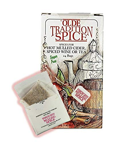 Hot Mulled Cider - Olde Tradition Spice: Mulling Spices in Tea Bags- 24 Count