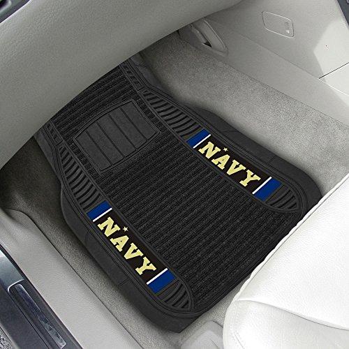 U.S. Naval Academy 2-pc Deluxe Car Mat Set