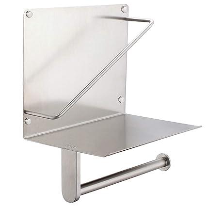 Portarrollos de papel higiénico con revistero aplusee SUS304 acero inoxidable baño dispensador de papel periódico de