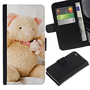 iBinBang / Flip Funda de Cuero Case Cover - Oso lindo - Apple iPhone 4 / 4S
