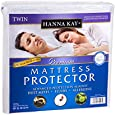 """Waterproof Twin Mattress Protector from Hanna Kay® - A Hypoallergenic, Sweat-Free Solution that fits ALLTwin Mattresses- Keeps You Safe, Dry and Cool -10-Year """"Good-Night's Rest"""" Warranty"""