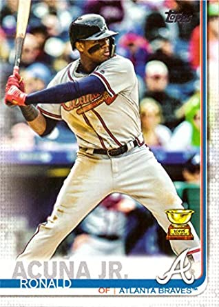 Amazoncom 2019 Topps 1 Ronald Acuna Jr Baseball Card Topps All