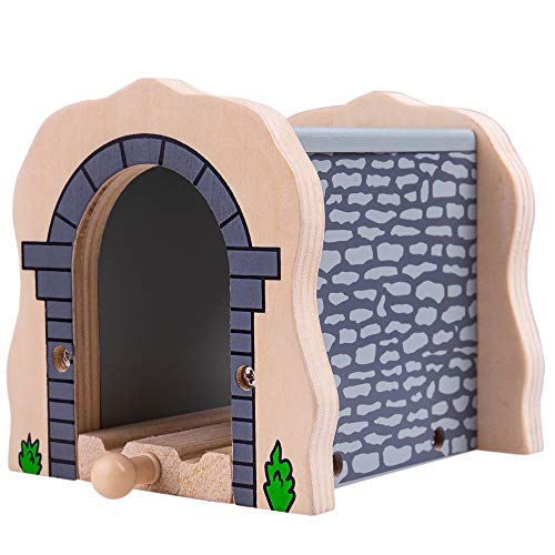(Bigjigs Rail Grey Stone Tunnel - Other Major Wooden Rail Brands are Compatible)