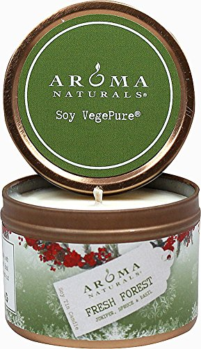Aroma Naturals Holiday Candle (Aroma Naturals Soy Holiday Tin Travel Candle Evergreen 2.6 Oz Unit)