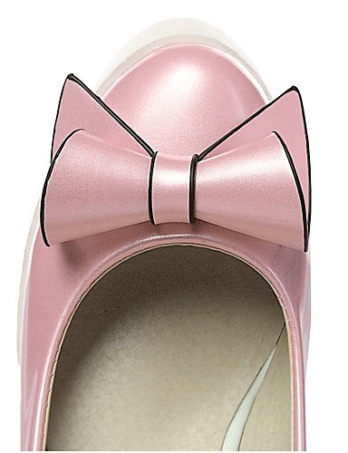 GGX/Damen Schuhe Kunstleder Keilabsatz an Materialien/Keile/Plattform/Basic Pumpe/Karriere/Kleid pink-us6.5-7 / eu37 / uk4.5-5 / cn37