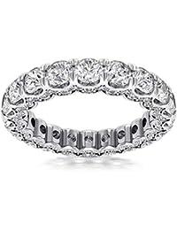 4a793753b 4.18 ct Ladies Round Cut Diamond Eternity Wedding Band (Color G Clarity SI-1