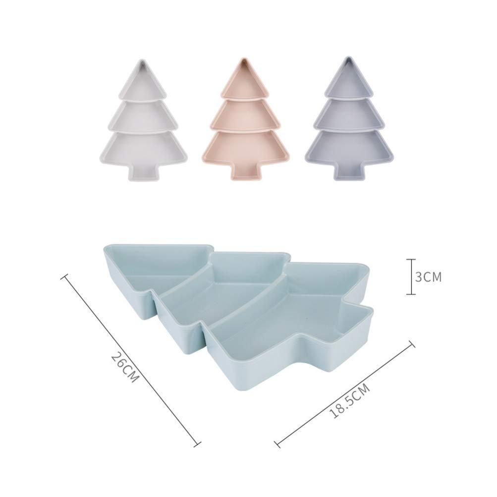 bleu clair BESTONZON 1 pc cr/éatif arbre de no/ël forme assiette de fruits m/énagers en plastique noix collations assiettes plats servant plateau
