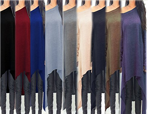Xuan2Xuan3 Long Women's Dress Casual Blue Oversized Shirt Top Sleeve r6pqfgnxr