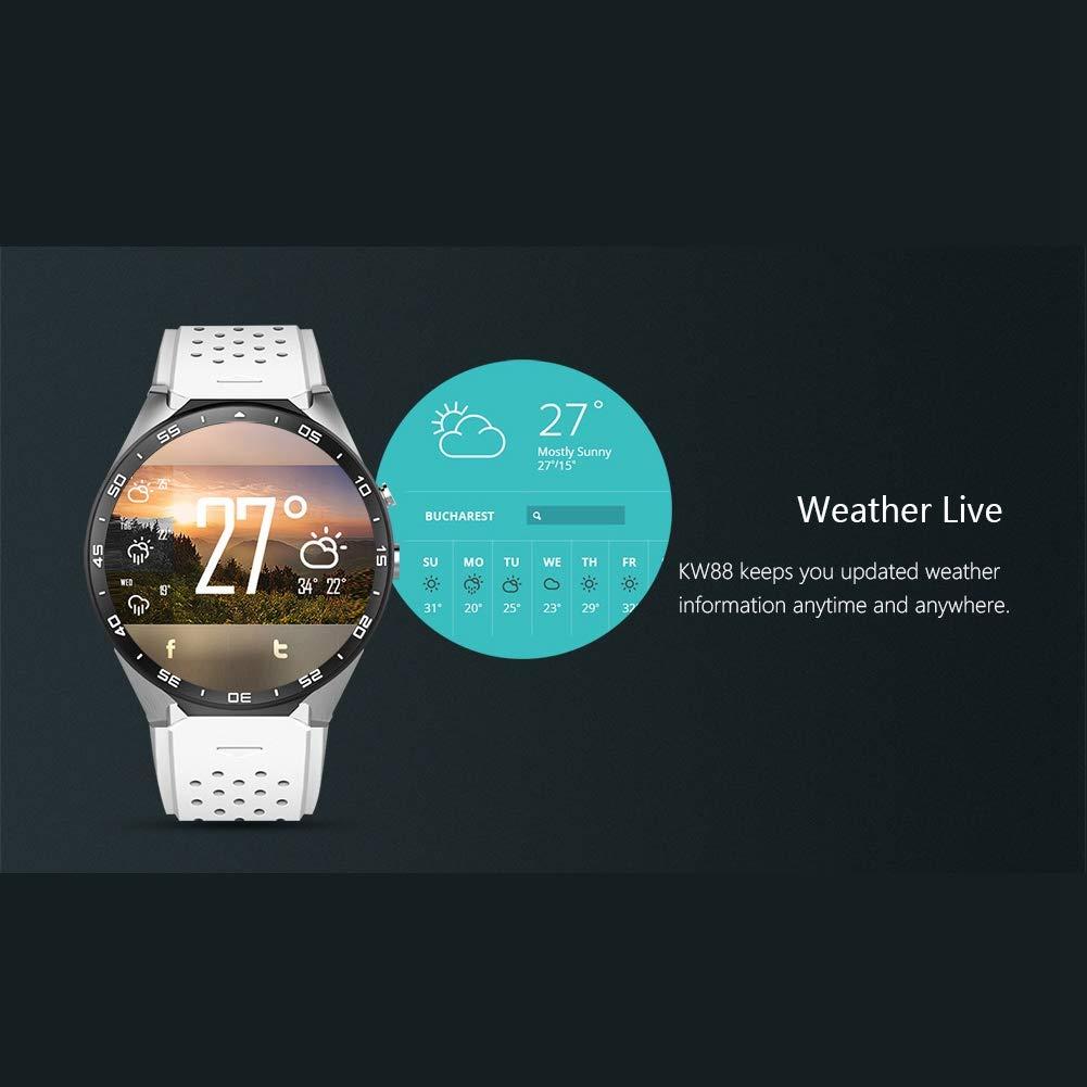 SODIAL Kw88 Android 5.1 Reloj Inteligente?De 1.39 Pulgadas ...