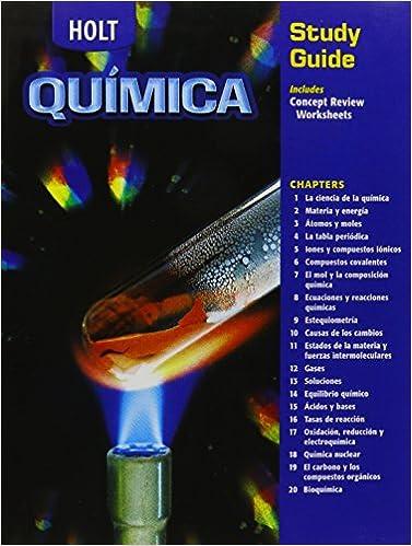 Holt Chemistry Study Guide Spanish
