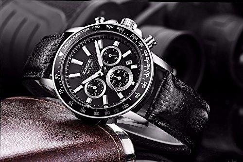 Amazon.com: Relojes de Hombre Cronógrafo De Cuarzo De Moda Para Caballero Movimiento Suizo Caja de Acero Inoxidable 2018 Nueva Colección RE0092: Watches