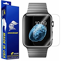 ArmorSuit MilitaryShield Anti-Bubble Ultra HD Full Coverage Screen Protector for Apple Watch 42mm (Series 1) – Clear (2-Pack)