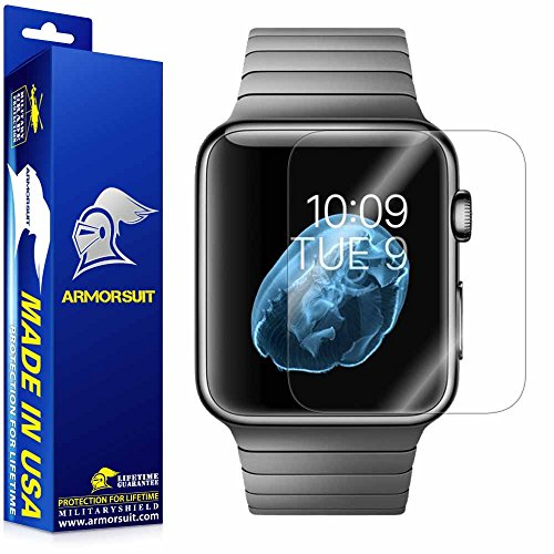 Apple Watch Screen Protector (42mm Series 3 / 2 / 1 Compatible) [2 Pack], Armorsuit MilitaryShield Max Coverage Screen Protector for Apple Watch 42 mm Series 3/2/1 - HD Clear Anti-Bubble